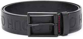 HUGO BOSS logo embossed belt