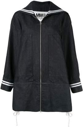 MM6 MAISON MARGIELA oversized denim sports jacket