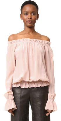 Emerson Thorpe Faye Off Shoulder Blouse $245 thestylecure.com