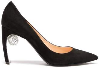 Nicholas Kirkwood Maeva Disco Ball Point Toe Suede Pumps - Womens - Black