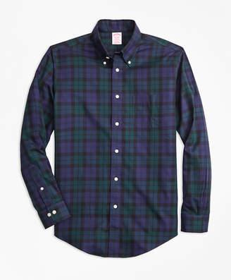 Brooks Brothers Non-Iron Madison Fit Black Watch Tartan Sport Shirt