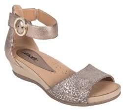 Earth Hera Leather Wedge Sandals
