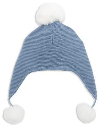 Elegant Baby Boys' Pom-Pom-Trimmed Knit Aviator Hat - Baby