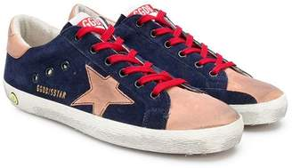 Golden Goose Kids two tone star sneakers