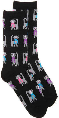 K. Bell Scarf Cat Crew Socks - Women's