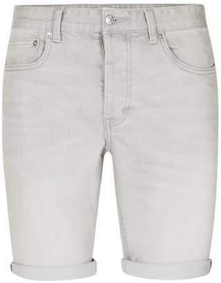 Topman Mens Grey Light Gray Stretch Skinny Denim Shorts