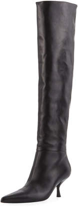 The Row Bourgeoisie Leather Over-the-Knee Boot