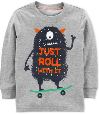 Carter's Baby Boys Monster-Print Cotton T-Shirt