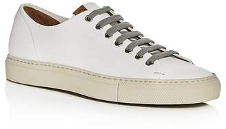 Buttero Tonino Leather Lace Up Sneakers $315 thestylecure.com