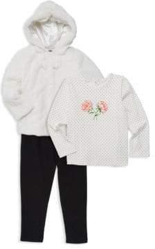 a6fea3afb Little Girls Faux Fur Coat - ShopStyle