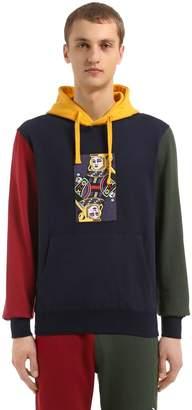 Hooded Omega Printed Cotton Sweatshirt