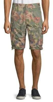 Jet Lag Floral-Print Cotton Cargo Shorts