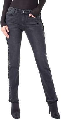 Liverpool Collette Stud Side Stripe Release Hem Jeans