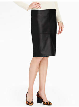 Talbots Leather Pencil Skirt
