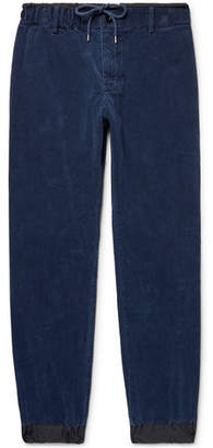Sacai Shell-Trimmed Cotton-Corduroy Trousers