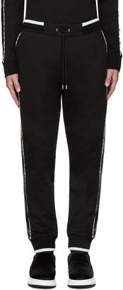 McQ Alexander Mcqueen Black Stripe Lounge Pants $370 thestylecure.com