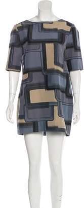 Marni Patterned Mini Shift Dress