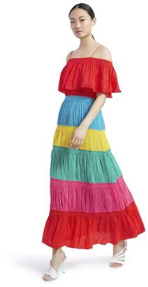 Alice + Olivia Kia Cold Shoulder Maxi Dress