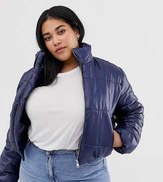 AX Paris Plus plus wet look cropped jacket