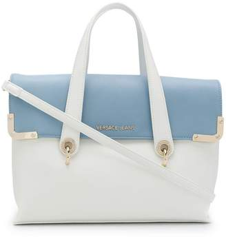 Versace bicolour satchel bag
