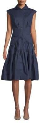 Zac Posen Stretch Cotton Shirt Dress