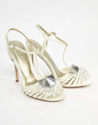 Asos Design HONEY BLOOM Bridal Embellished Heeled Sandals