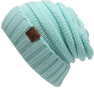AIJIAO Winter Hats Women Cap Crochet Knit Thermal Slouchy Beanie Hat /
