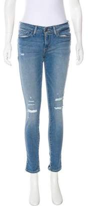 Levi's Distressed Mid-Rise Jeans