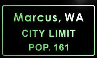 Marcus Collection AdvPro Name t86926-g town, WA City Limit Pop 161 Indoor Neon sign