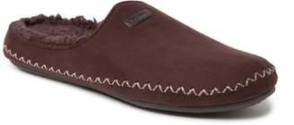 Dearfoams Men's Whipstitch Microsuede Mule Slippers