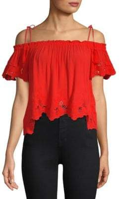 ASTR the Label Nadia Off-The-Shoulder Top