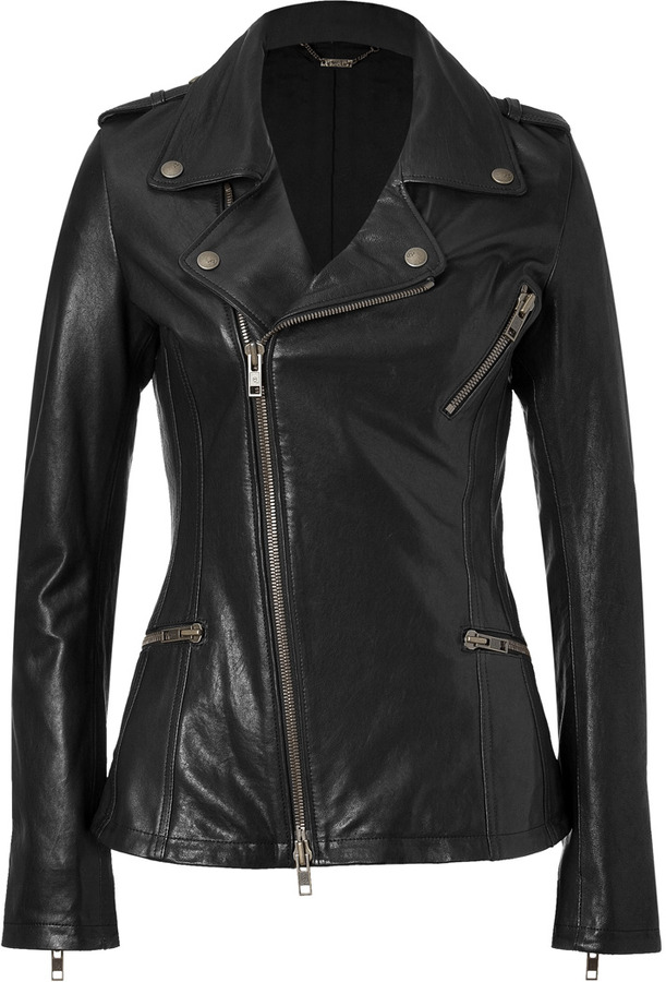 McQ Black Biker Leather Jacket