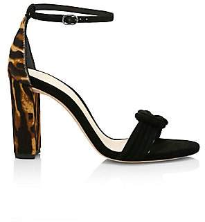 Alexandre Birman Women's Vicky Knotted Tiger-Stripe Calf Hair & Suede Sandals