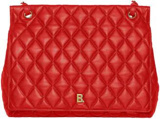 Balenciaga Large B Shoulder Bag in Bright Red | FWRD
