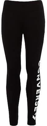 Converse Girls Black logo leggings