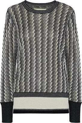 By Malene Birger Bilijean Metallic Jacquard-Knit Sweater