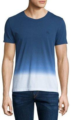 Burberry Brit Dip-Dyed Ombre Short-Sleeve T-Shirt, Dark Ultramarine $215 thestylecure.com