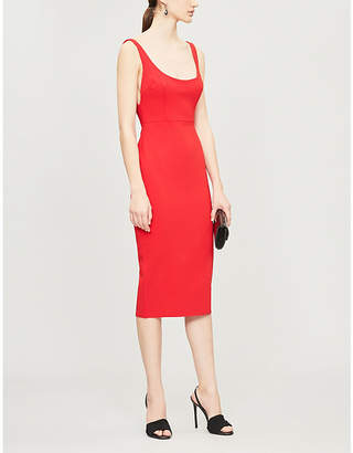 Alex Perry Marta bodycon crepe knee-length dress