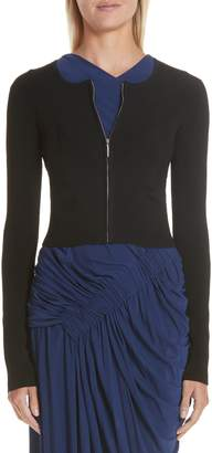 Jason Wu Collection Ribbed Zip Cardigan