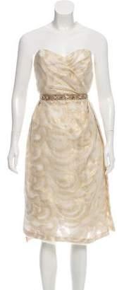 Peter Som Strapless Knee-Length Dress