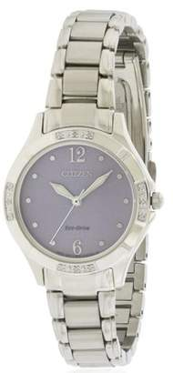 Citizen Women's Eco-Drive Diamond Stainless Steel Watch EM0450-53X