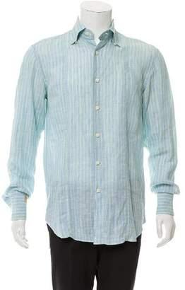 Couture Billionaire Italian Linen Button-Up Shirt
