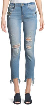 Driftwood Jackie Embellished Destructed Jeans