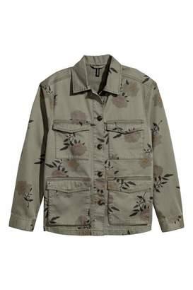 H&M Utility Jacket - Khaki green/floral - Women