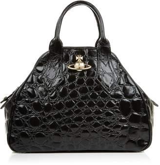 Medium Yasmine Handle Bag-Black