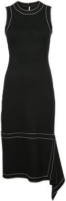 Rosetta Getty flared asymmetric midi dress