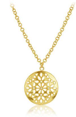 "Amrapali Legend Large Shevanti Disc Pendant Necklace with Diamonds, 32"""