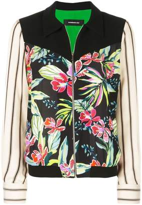 Barbara Bui floral panelled zip jacket