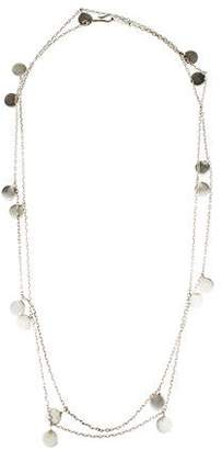 Me & Ro Me&Ro Sterling Silver Moroccan Disc Necklace