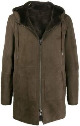 Desa 1972 hooded sheepskin coat